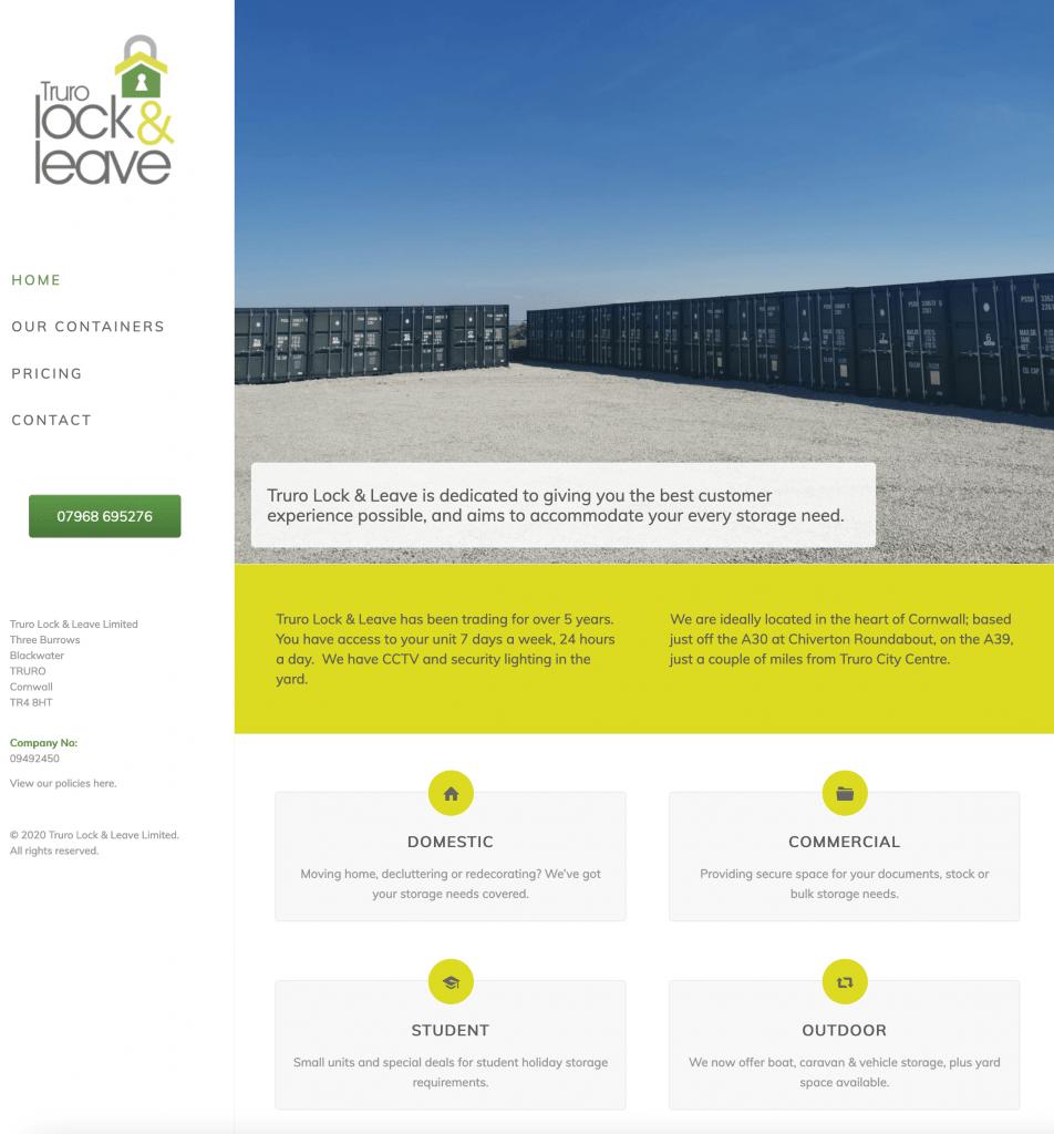 Truro Lock & Leave | website design by Awenek